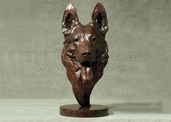 德国牧羊犬工艺美术品铸件